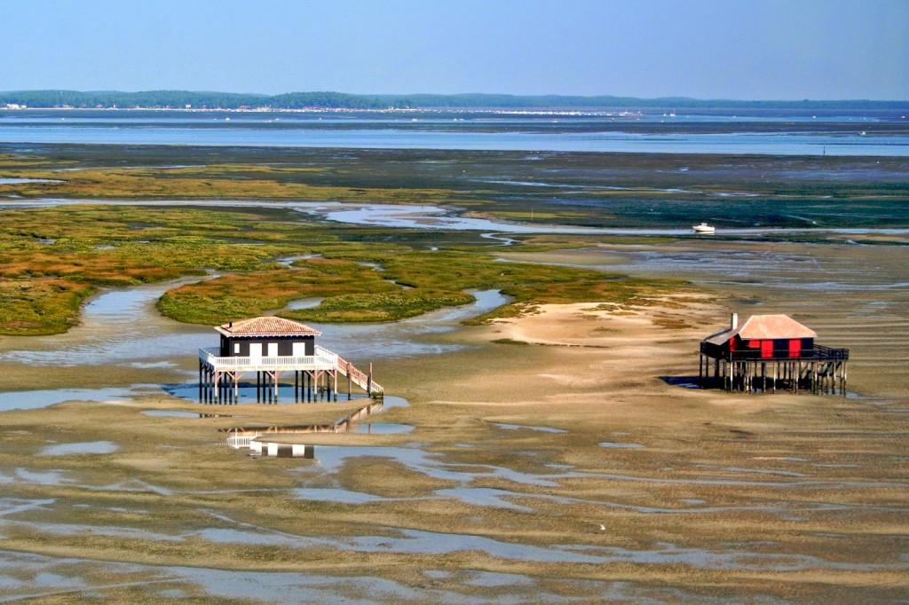 Bassin d'Arcachon, Cabanes tchanquées
